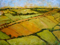 Orange Fields and Hedgerows